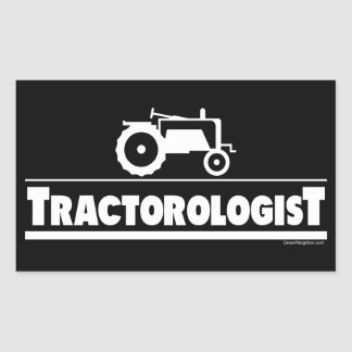 Tractorologist - Tractor Rectangular Sticker