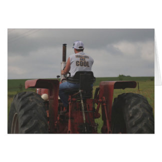 Tractors are Cool Greeting Card