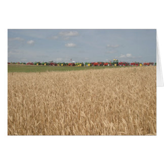 Tractors in Wheat Field Card