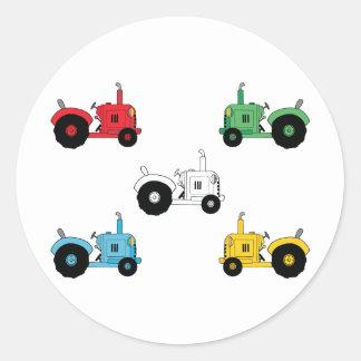 Tractors Round Sticker