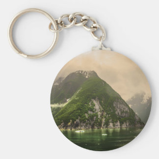 Tracy Arm, Alaska Basic Round Button Key Ring