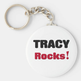 Tracy Rocks Basic Round Button Key Ring