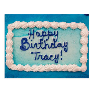 Tracy's 2016 Birthday Cake Postcard