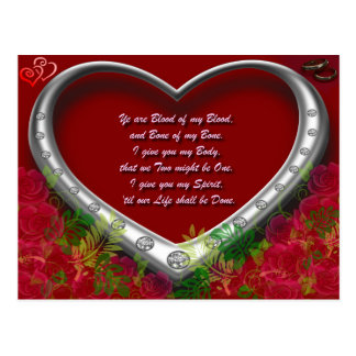 Trad. Scot Love Vow: Blood of my Blood - Floral Postcard