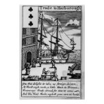 Trade at Harborough, English playing card Poster