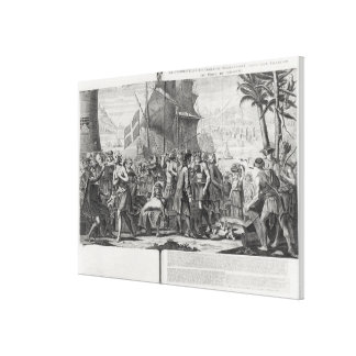 Trade between Mexican Indians and the French Canvas Print