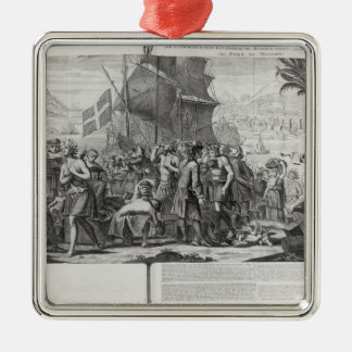 Trade between Mexican Indians and the French Christmas Ornament