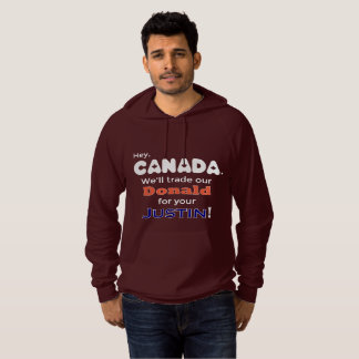 Trade Donald For Justin Funny Hoodie