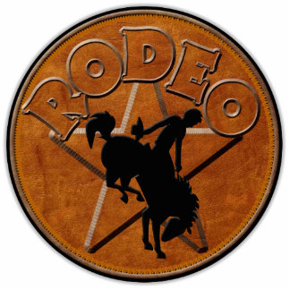 TRADE STAND SIGN ~ Rodeo Rider Standing Photo Sculpture