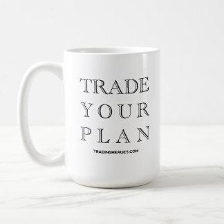 Trade Your Plan - The Trading Commandments Basic White Mug