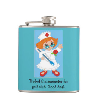 Traded Thermometer for Golf Club - Good Deal Hip Flask