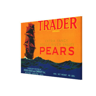 Trader Pear Crate LabelMedford, OR Canvas Print