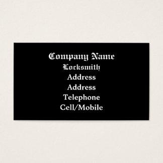 TRADES, LOCKSMITHS BUSINESS CARD