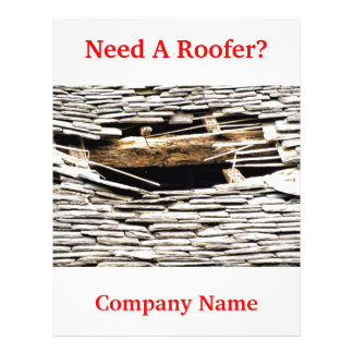 TRADES, ROOFING 21.5 CM X 28 CM FLYER