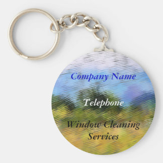 TRADES, WINDOW CLEANING BASIC ROUND BUTTON KEY RING