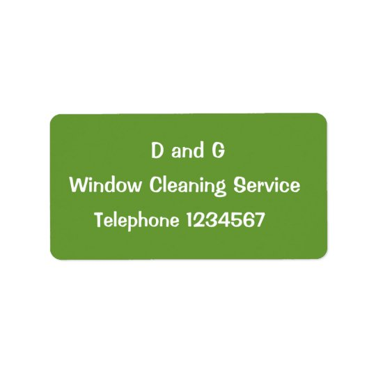 TRADES, WINDOW CLEANING LABEL