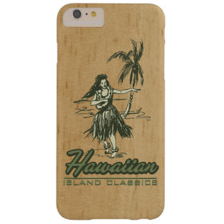 Tradewinds Hawaiian Island Hula Girl Faux Wood Barely There iPhone 6 Plus Case