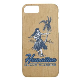 Tradewinds Hawaiian Island Hula Girl Faux Wood iPhone 7 Case