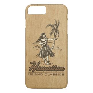 Tradewinds Hawaiian Island Hula Girl Faux Wood iPhone 7 Plus Case