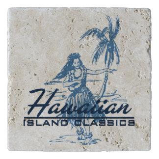 Tradewinds Hawaiian Island Hula Girl- Indigo Blue Trivet
