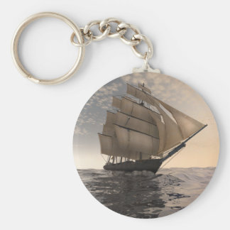 Tradewinds Basic Round Button Key Ring