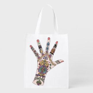 tradiional and Mehndi hands bag