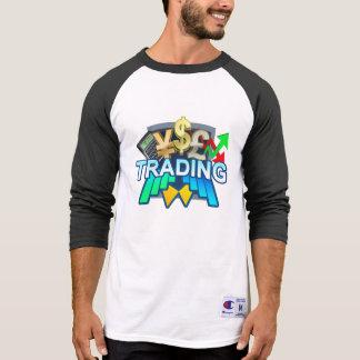Trading Men's white/black Raglan T-shirt