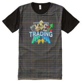 Trading orange grid All Printed T-Shirt