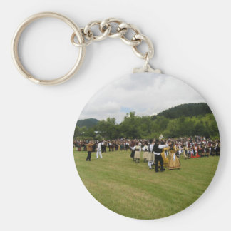 Tradition Greek Dance Basic Round Button Key Ring