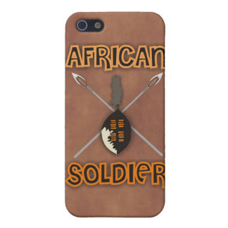 Traditional African Soldier Spear and Shield iPhone 5 Case