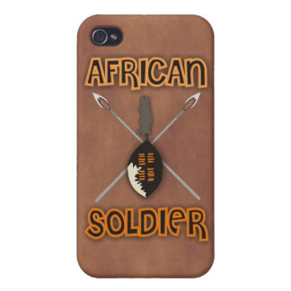 Traditional African Soldier Spear and Shield Case For The iPhone 4