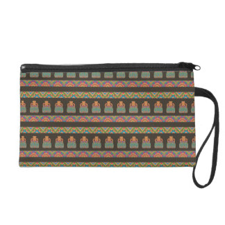 Traditional African Tribal Pottery Pattern Wristlets