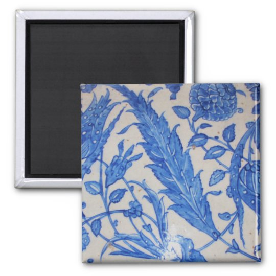 Traditional antique Blue and White Ottoman Ceramic Magnet