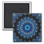 Traditional antique Ottoman Turkish tile Square Magnet