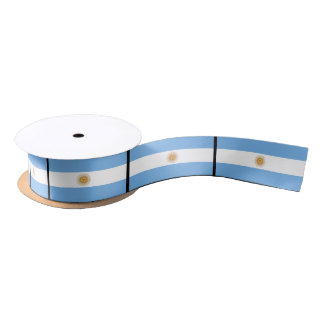 Traditional Argentina Flag Satin Ribbon