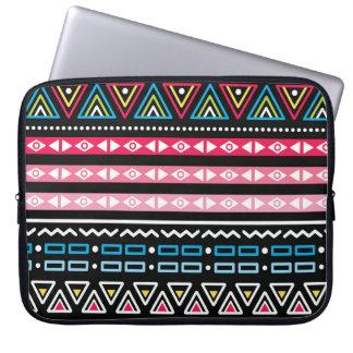 Traditional Aztec seamless tribal folk art pattern Laptop Sleeve