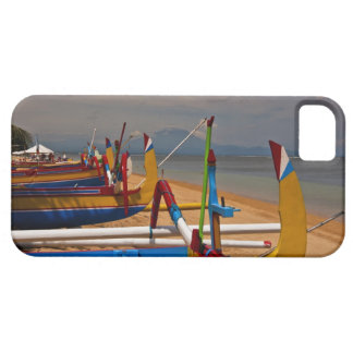 Traditional Balanese fishing boats on beach near iPhone 5 Covers
