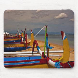 Traditional Balanese fishing boats on beach near Mouse Mat