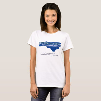 Traditional basic white tee for ladies.