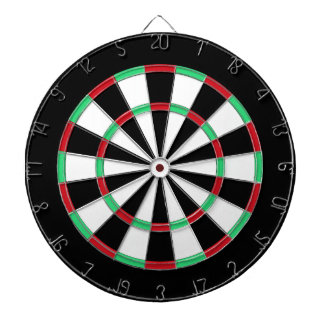 Traditional Black And White Dartboard