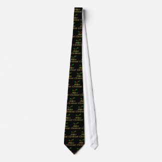 Traditional Black Merry Christmas Tie