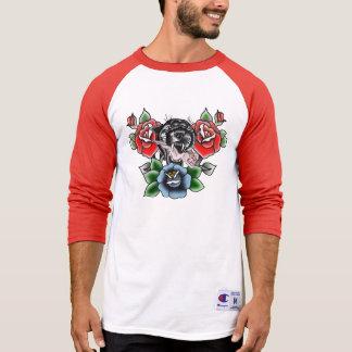 Traditional Black Panther Pin Up Girl T-Shirt