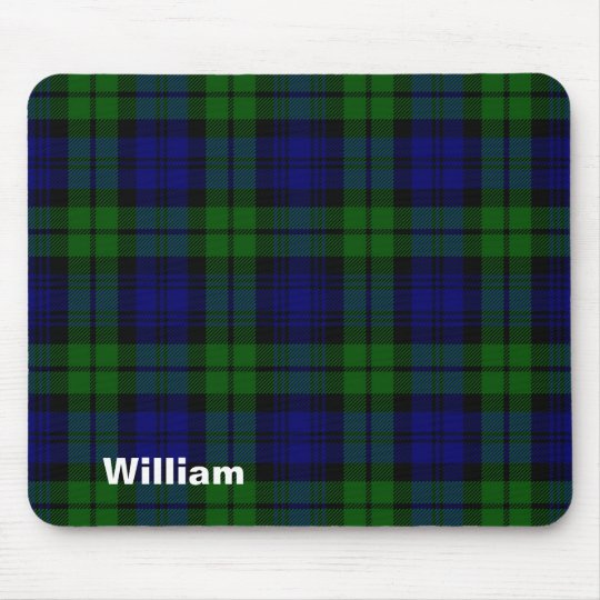 Traditional Black Watch Tartan Plaid Mouse Mat