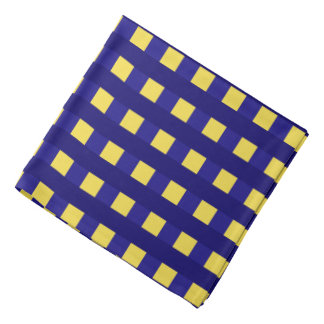 Traditional blue chequered pattern, buffalo plaid bandana