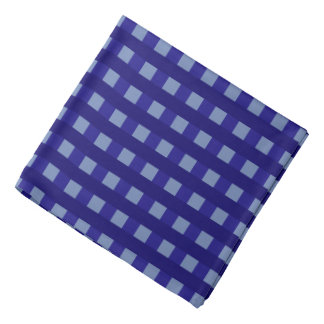 Traditional blue chequered pattern worker clothing bandana