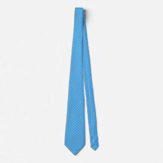 Traditional Blue Dot Pattern Men's Tie