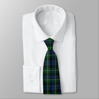 Traditional Blue & Green Campbell Plaid Neck Tie