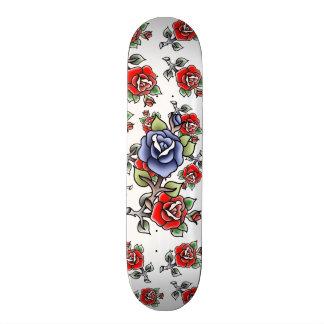 traditional blue rose bluerose single rose blue skate board