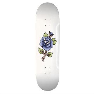 traditional blue rose bluerose single rose blue skateboard