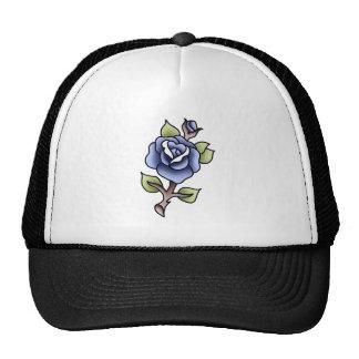 traditional blue rose cap